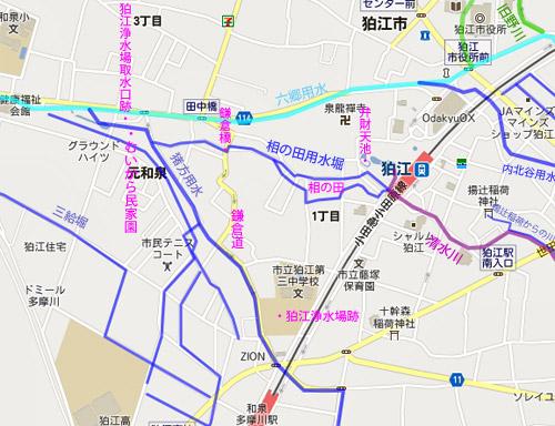 狛江暗渠ラビリンス(3)清水川の源流につながっていた「相の田用水堀」_c0163001_23403594.jpg