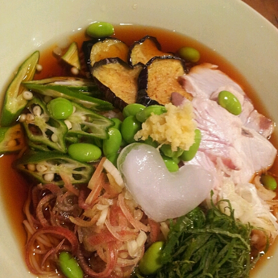 夏にぴったり!夏野菜冷し素麺♪_b0252508_19351729.jpg