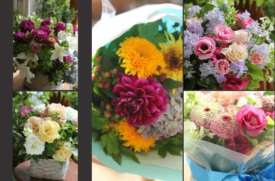 アトリエの仕事 (2012.7月前半の花贈りから)_d0203649_20194663.jpg