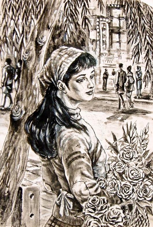 花売り娘 : 田代正之絵画集(趣味の絵画)