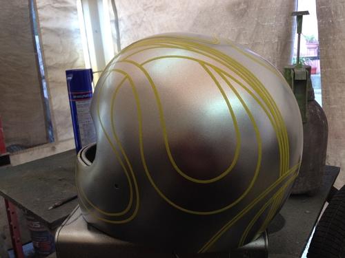 ヘルメットペイント サイケな感じ!_a0164918_21274047.jpg