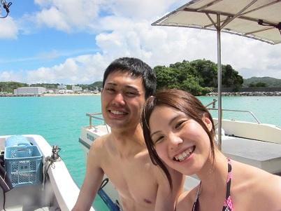真栄田岬で楽しみました☆_a0156273_17351173.jpg