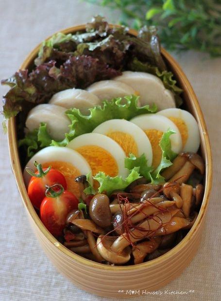 ピリ辛コチュジャンきのこ丼弁当 ☆ ズッキーニのボートグラタン♪_c0139375_1437480.jpg