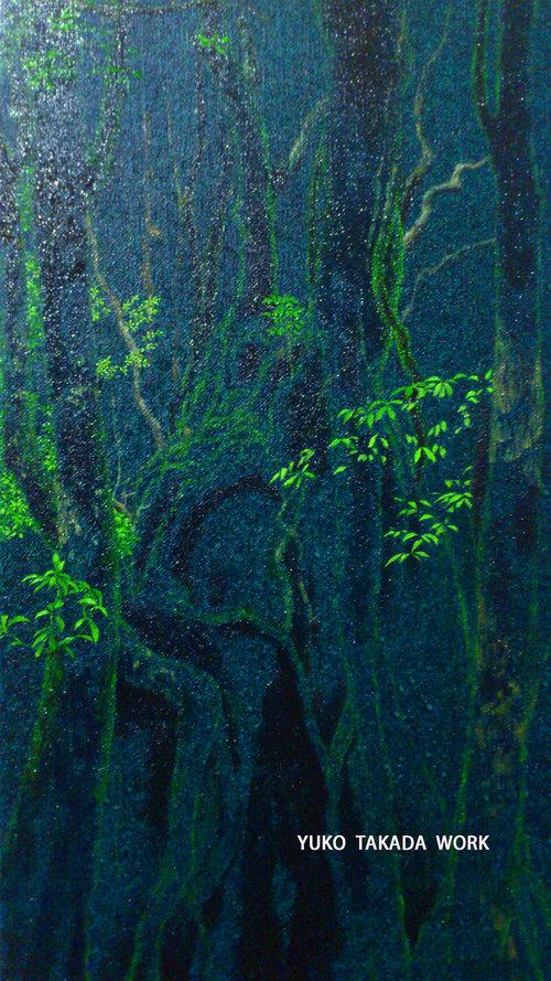 静かないちにち、森の空気を描く。_b0240382_20542523.jpg