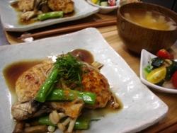 7/25晩ごはん:照り焼き豆腐ハンバーグ_a0116684_19503361.jpg
