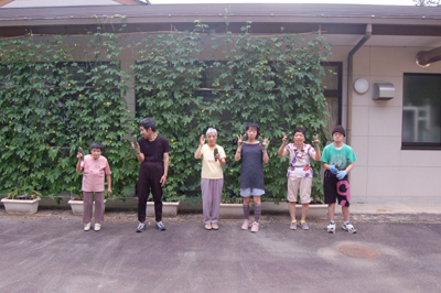 ゴーヤの収穫祭☆_a0154110_10352053.jpg