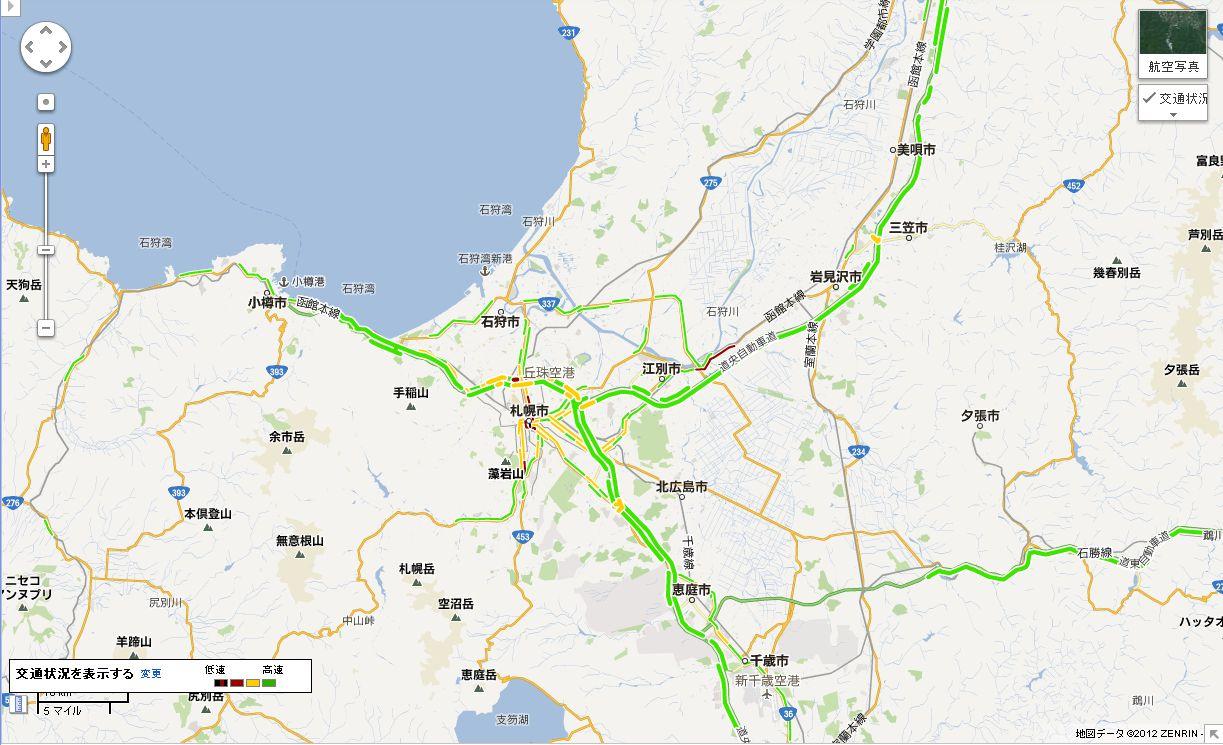 Googleマップでリアルタイム交通状況_c0025115_1951599.jpg