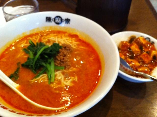 陳麻屋 肥後橋店にて坦々麺&マーボー丼_a0004752_21231071.jpg
