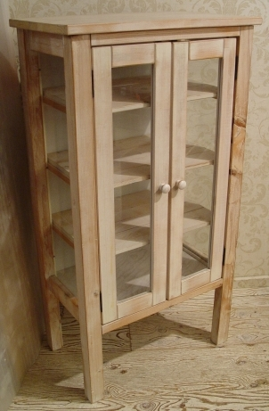 ペンキの剥げた白いガラスキャビネットと木の棚 入荷!!_a0096367_2193497.jpg