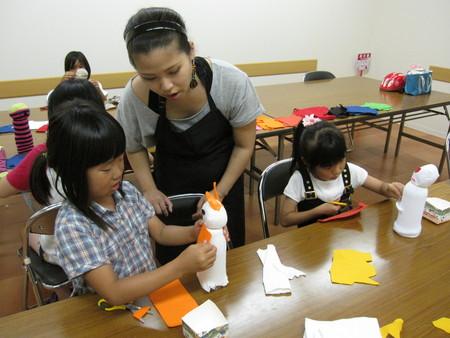 城陽教室 ペットボトル人形作り_f0215199_16104511.jpg