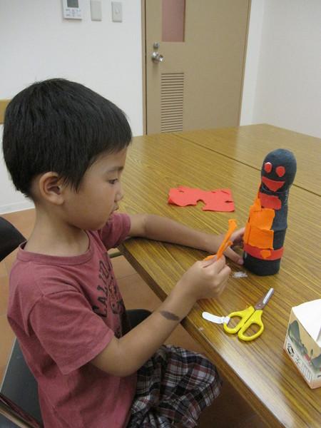 城陽教室 ペットボトル人形作り_f0215199_16135720.jpg