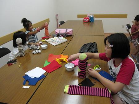 城陽教室 ペットボトル人形作り_f0215199_1621677.jpg