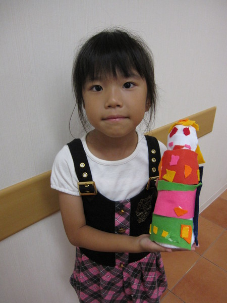 城陽教室 ペットボトル人形作り_f0215199_1634499.jpg