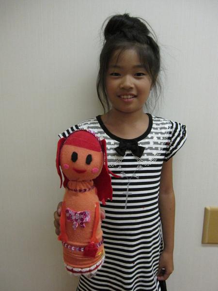 城陽教室 ペットボトル人形作り_f0215199_1640031.jpg