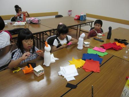 城陽教室 ペットボトル人形作り_f0215199_1643311.jpg