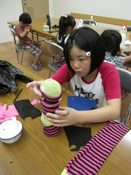城陽教室 ペットボトル人形作り_f0215199_166633.jpg