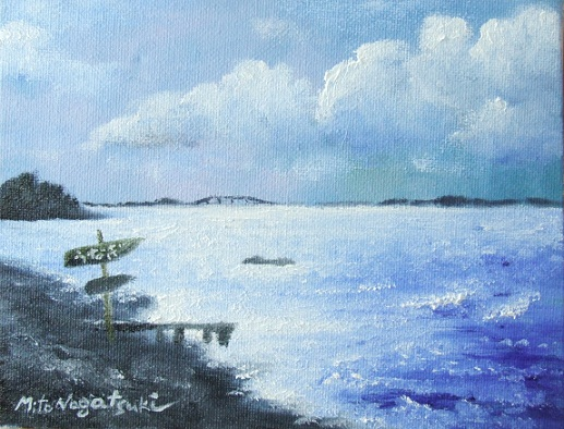 浜名湖の油絵_b0089338_15364225.jpg
