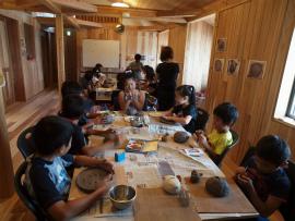 地域ネットくれんど ~夏休み陶芸教室~_e0175370_15304916.jpg