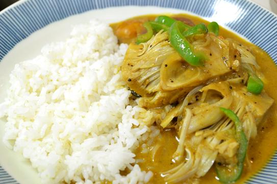 グリーン・ジャックフルーツ・カレー, unripe young green jackfruit curry