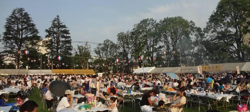 納涼祭に盆踊り_f0059673_22251263.jpg