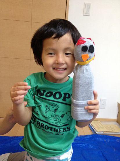 枚方教室 ペットボトルの人形作り_f0215199_14204599.jpg