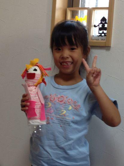 枚方教室 ペットボトルの人形作り_f0215199_14204631.jpg