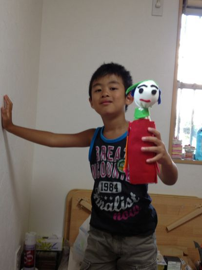 枚方教室 ペットボトルの人形作り_f0215199_14204694.jpg