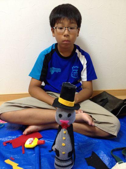 枚方教室 ペットボトルの人形作り_f0215199_14204776.jpg
