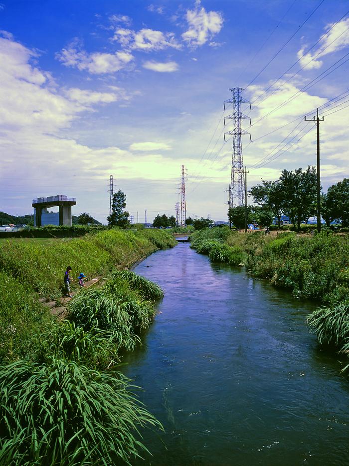 田んぼは青々と。坂川は水田地域へ~GA645WとDP1xでめぐる坂川~_c0223825_2413953.jpg