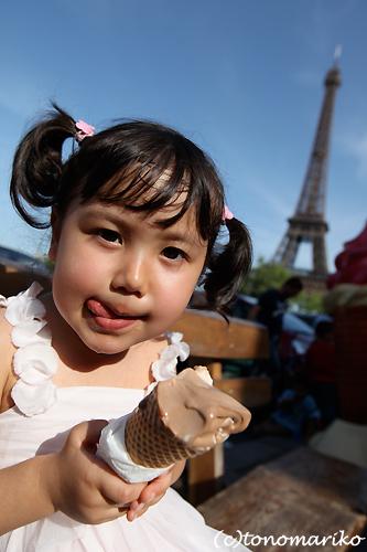 ソフトクリーム食べながら、家族で記念写真♪_c0024345_121689.jpg