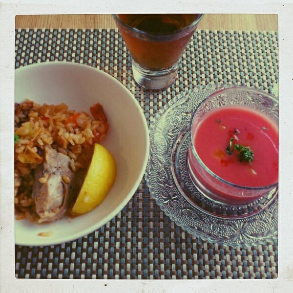こんな暑い日はスパニッシュなお料理で。_b0065587_192414.jpg