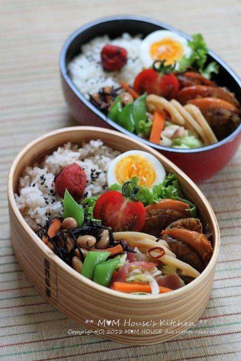 ホタテのしぐれ煮弁当 ☆ 【レシピ】台湾ラーメン ペースト♪_c0139375_13433195.jpg