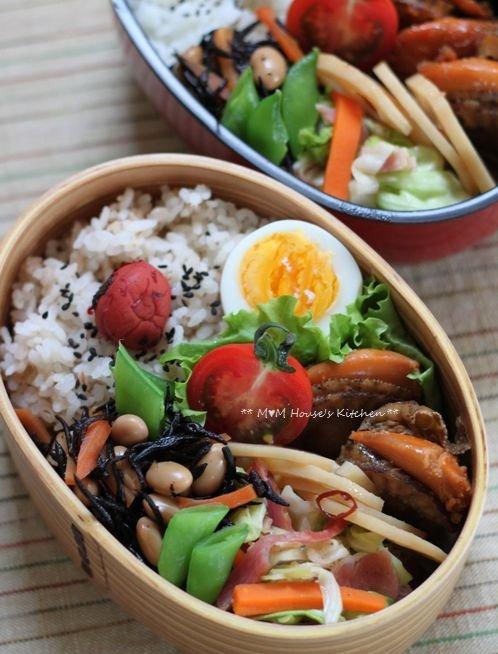 ホタテのしぐれ煮弁当 ☆ 【レシピ】台湾ラーメン ペースト♪_c0139375_13453379.jpg