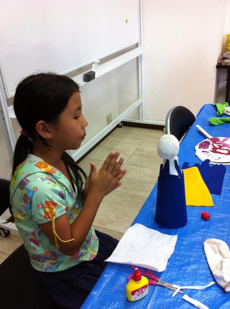 あべの教室 ペットボトルの人形作り_f0215199_0293257.jpg