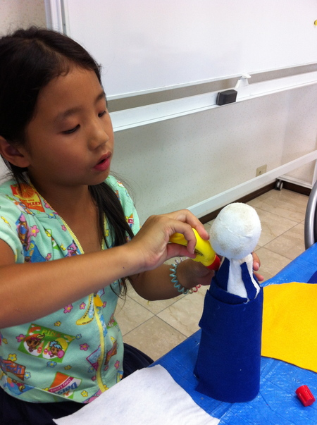 あべの教室 ペットボトルの人形作り_f0215199_0311618.jpg