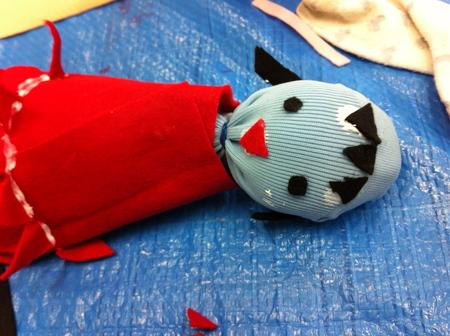 あべの教室 ペットボトルの人形作り_f0215199_0334924.jpg