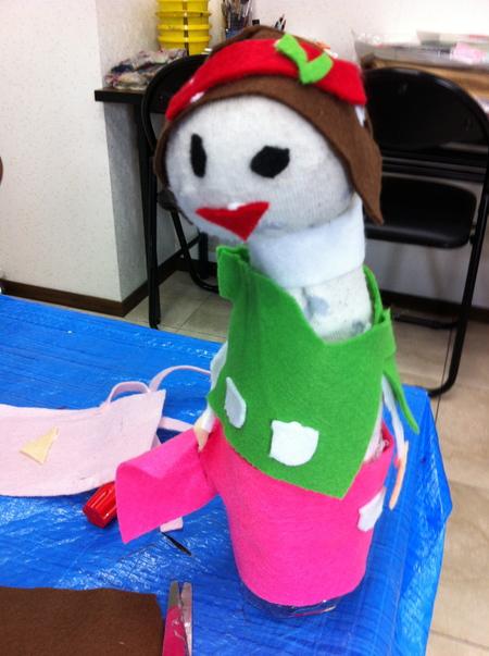 あべの教室 ペットボトルの人形作り_f0215199_040232.jpg
