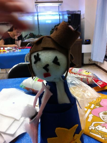 あべの教室 ペットボトルの人形作り_f0215199_0442064.jpg