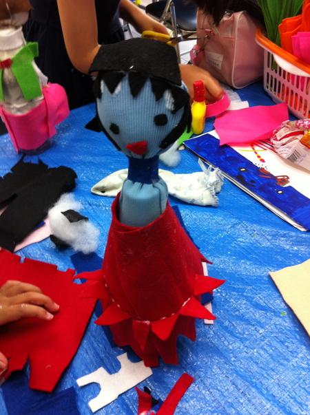 あべの教室 ペットボトルの人形作り_f0215199_0453160.jpg