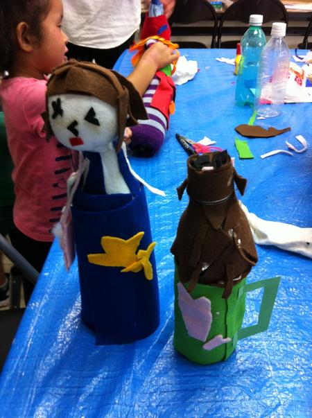 あべの教室 ペットボトルの人形作り_f0215199_0471199.jpg