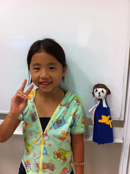 あべの教室 ペットボトルの人形作り_f0215199_0523859.jpg