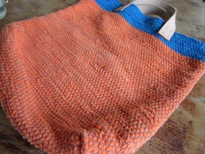 ロンドンオリンピック&オレンジの裂き織りバッグ。_b0207631_10564040.jpg