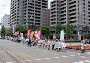 「岡山デモ~放射能汚染のない日々を希望する行進~」に参加しました。_d0155415_1371999.jpg
