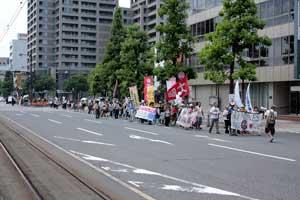 「岡山デモ~放射能汚染のない日々を希望する行進~」に参加しました。_d0155415_1373869.jpg
