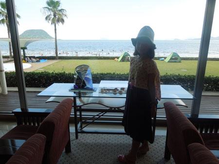 a la picine et a la plage de KARATSU_a0262845_1320521.jpg
