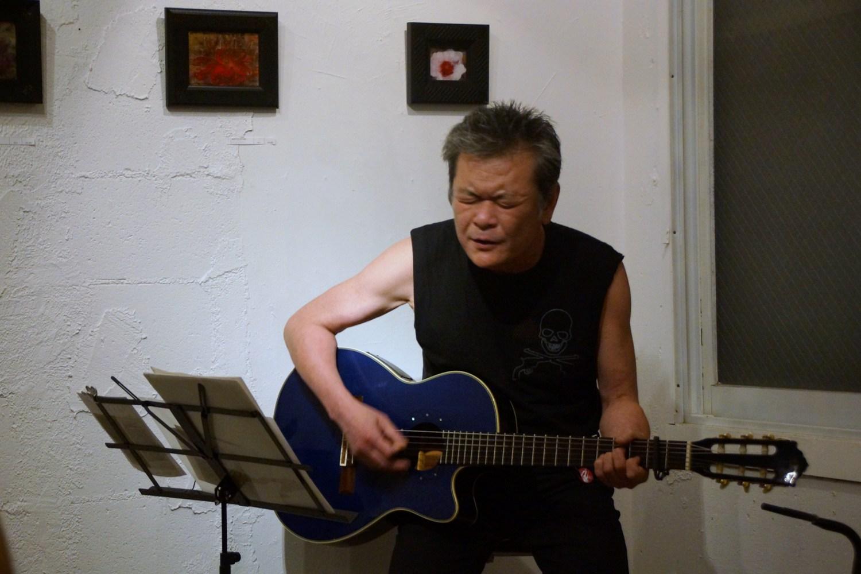 恒松正敏Birthday Live in 「恒松正敏展 生誕60周年記念」@PARADA/7月の詩「燕がゆっくり」_f0006713_23354930.jpg