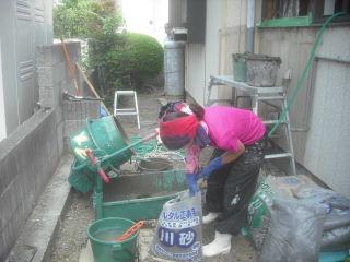 浴室工事・・土間コン_f0031037_21492925.jpg