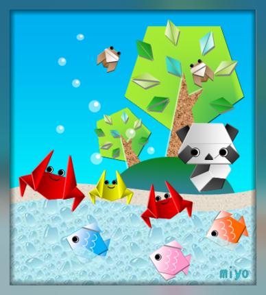 ハート 折り紙:夏の折り紙折り方-miyohiroba.exblog.jp
