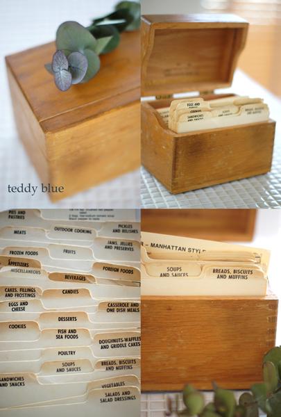 old recipe box & cards  昔のレシピボックス_e0253364_22144893.jpg