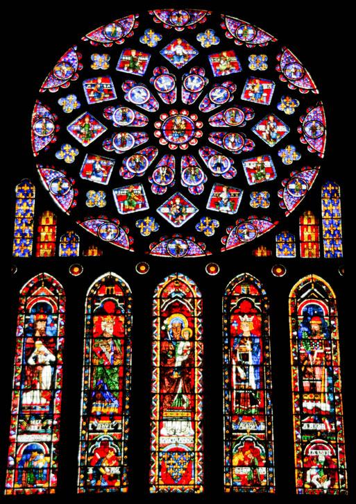 シャルトル大聖堂のステンドグラス : 季節の風に吹かれて in Lyon... シャルトル大聖堂